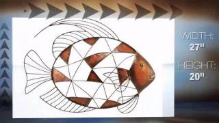 Fabulous Fish Metal Wall Sculpture