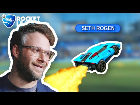 I played Rocket League with Seth Rogen (real)