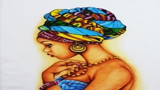 Pintura Étnica com Pele Negra-Pintura  con Piel Negra
