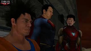 Ironman Superman and Goku talk with Vergil - Dragon ball vs Marvel vs DC vs Capcom