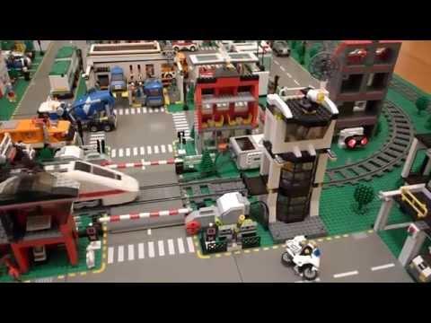 LEGO Railway Crossing from AnGL (February 2014)   Лего автоматический железнодорожный переезд