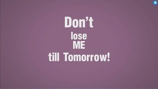 DJ F.R.A.N.K Feat. Craig Smart – Don't Lose Me Till Tomorrow (Official Lyric Video) (HD) (HQ)