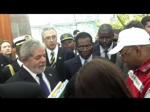 President of Brazil Departs Malabo