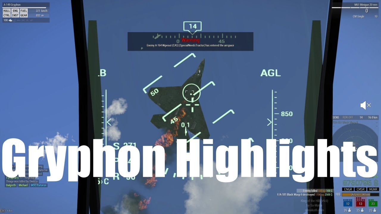 A-149 Gryphon vs Air and Ground Targets in Arma 3 King of the Hill