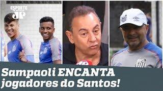 Bastidores: Sampaoli TRANSFORMA ambiente e ENCANTA jogadores do Santos!