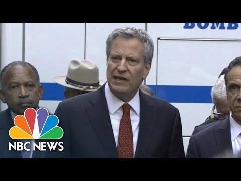Bill De Blasio: Pipe Bombs Were 'An Effort To Terrorize'   NBC News