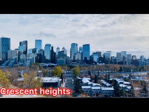 Crescent Heights    Calgary Heights    Alberta Canada 🇨🇦    Days In Canada    Downtown Calgary 4K