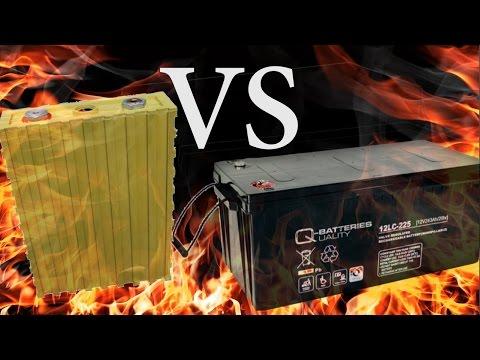 LiFePo4 Vs Agm Batterie - Kosten- Und Leistungsvergleich