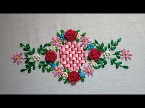 Hand embroidery. Brazilian embroidery design.