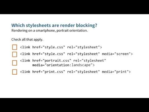 Which stylesheets are render blocking? - Website Performance Optimization