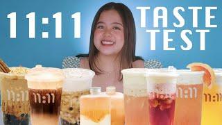 11:11 DRINKS TASTE TEST (INSTAGRAMMABLE DRINKS PERO MASARAP NGA BA??) | Merienda Time