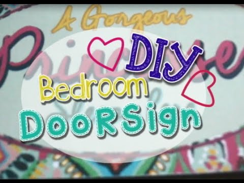 Diy Room Decor Bedroom Door Sign Youtube
