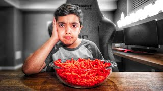 Little Kid Is Addicted To Takis And Cheetos! (TAKIS FUEGO AND HOT CHEETOS CHALLENGE!)