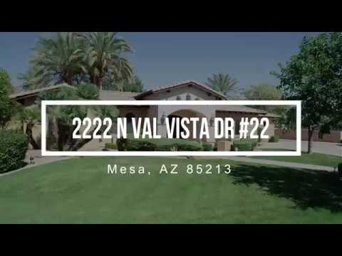 2222 North Val Vista Drive Mesa,AZ 85213 Drone Tour