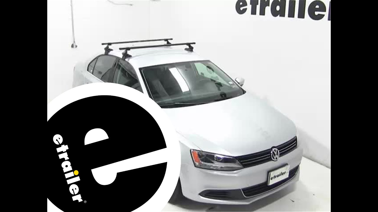Review Of The SportRack Semi Custom Roof Rack On A 2013 Volkswagen Jetta    Etrailer.com