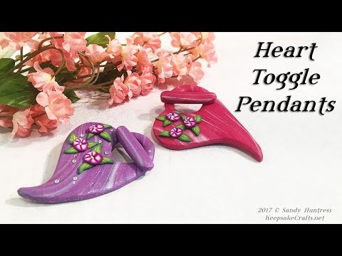 Heart Toggle Pendants Pt.1-Polymer Clay Jewelry Findings Tutorial