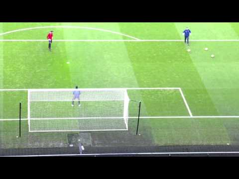 Full Goalkeeper warm up Arsenal vs Blackburn Rovers FA cup tie