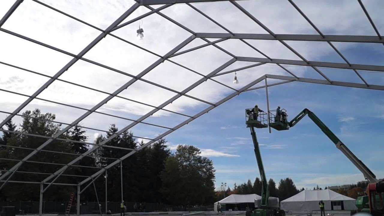 & Microsoftu0027s Giant Tent - YouTube