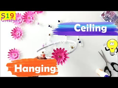 ceiling hanging with paper | easy diy craft | paper crafts | home decor 2018 |decorations with paper