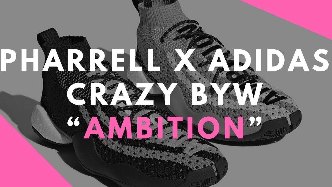 "cheaper 84315 595c4 Pharrell x adidas Crazy BYW ""Ambition"" In Pink Is Coming This Summer"