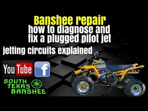 1 Cold Pipe Banshee Plugged Pilot Fix And Jetting Circuits