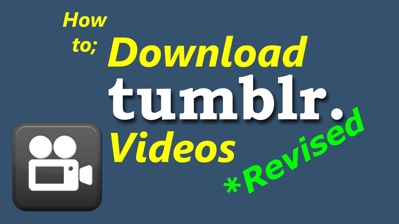 Download videos from tumblr how to revised youtube voltagebd Images