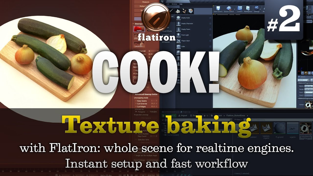Fast & simple texture baking everything for Unreal & Unity Part 2