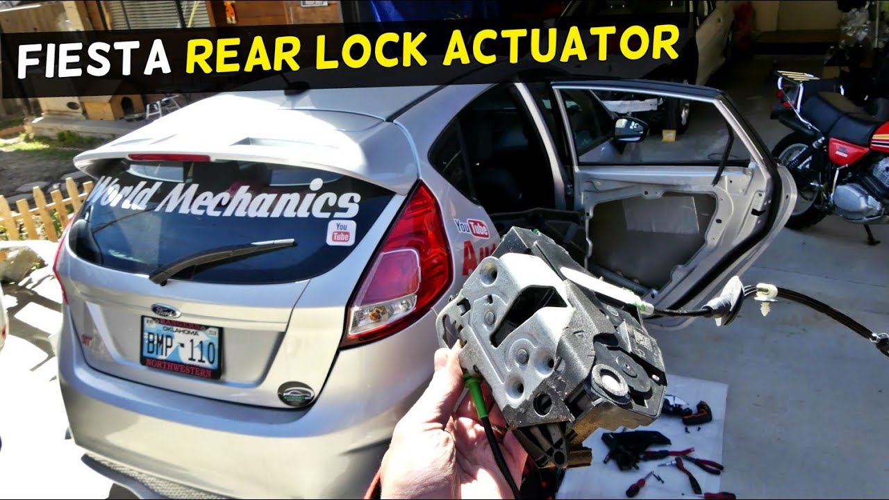 How To Replace Door Lock Actuator On Ford Fiesta Mk7 Youtube