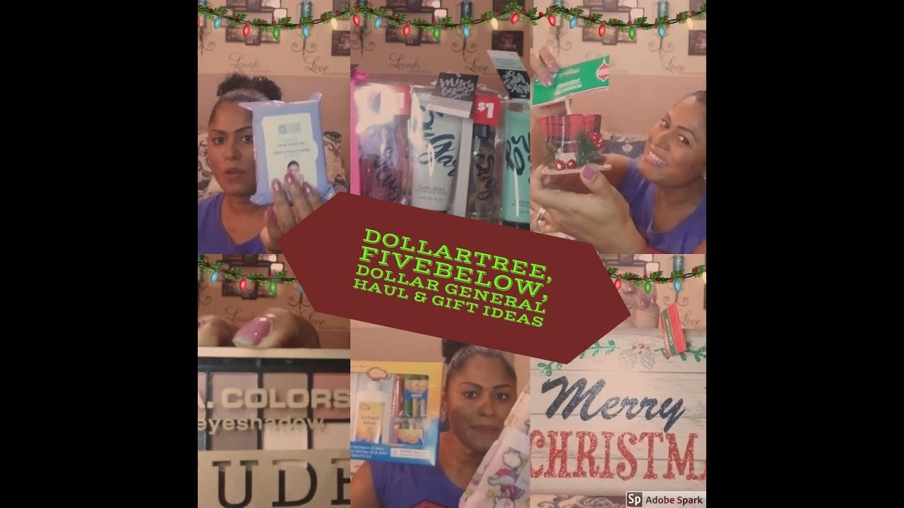 Dollar Tree, Five Below & Dollar General Haul|| With Christmas gift ...