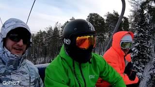 Лыжи + GoPro 7 + Sony AS300 // Тест Ветрозащиты