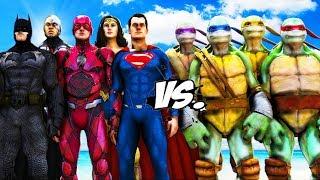 Teenage Mutant Ninja Turtles VS Justice League - EPIC BATTLE