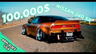 over 100.000$ widebody v8 240sx Nissan from Rikos Way - BBM goes USA 2019 Roadtrip