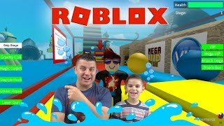 DID WE CHEAT? Escape The Shark Obby - ROBLOX
