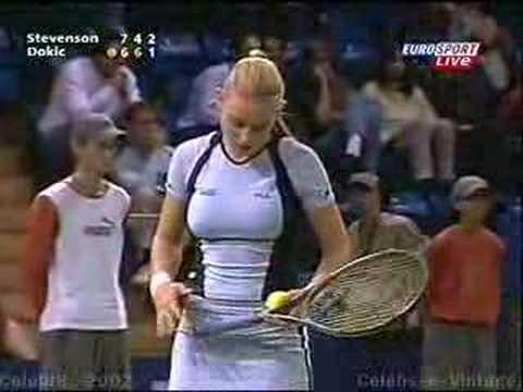 Jelena Dokic Vs Stevenson October 2002 YouTube