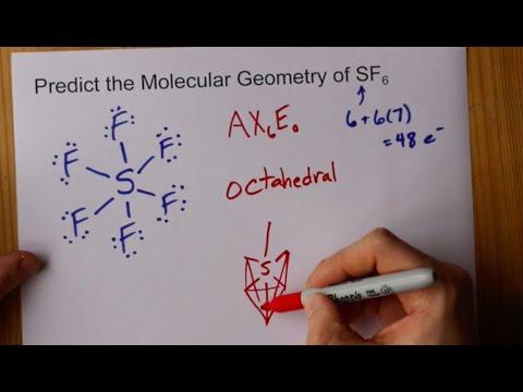 Molecular Geometry Of Sf6 Sulfur Hexafluoride Youtube