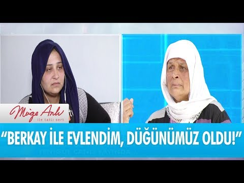Yenigül:'Berkay ile evlendim, düğünümüz bile oldu!'- Müge Anlı İle Tatlı Sert 2 Nisan 2018