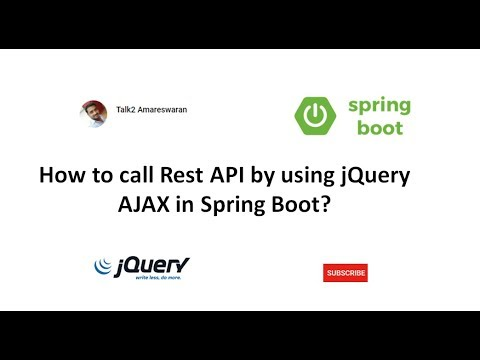 How to call Rest API by using jQuery AJAX in Spring Boot?