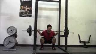 Supersquats week 3 workout 3 6 6 15