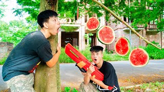 Battle Nerf War: Competition Watermelon Battle Nerf Guns WATERMELON FRUIT