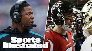 Steve Wilks Going To Giants Or Cardinals?, Falcons Super Bowl Favorite? | PFN | Sports Illustrated