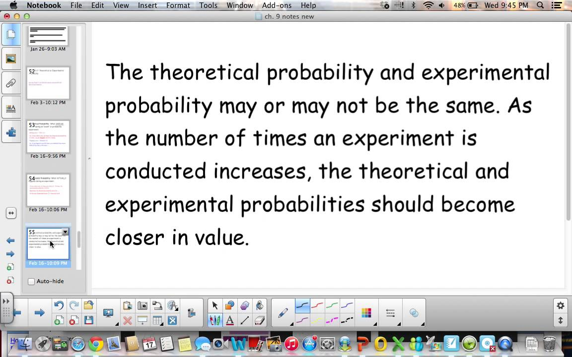 6th Grade Lesson 9 7 Theoretical and Experimental Probability - YouTube