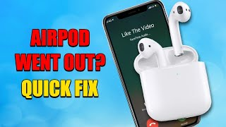 LEFT AIRPOD WENT OUT? ONE EAR PROBLEM? QUICK FIX HERE!