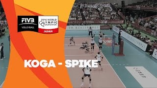 Well-placed spike from the japanese Koga - Women