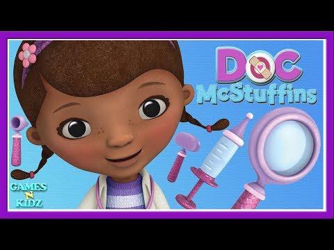 Doc McStuffins:  Toy Animal Check Up, Pet Vet Care Compilation Video Disney Junior Kids Games