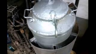 Самодельная термостойкая краска ч.2 (испытание огнём)