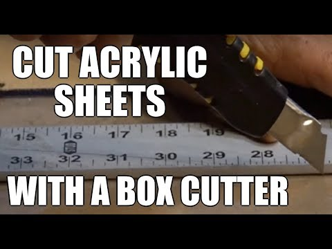 acrylic cutting with any box cutter diy 1 cutter cut acrylic sheet