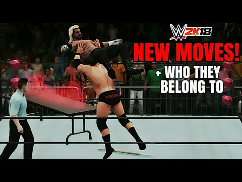WWE 2K18 DLC: *ALL NEW MOVES* + WHO THEY BELONG TO! (WWE 2K18 New Moves Pack)