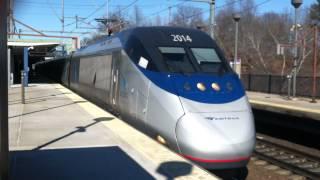 Amtrak Acela Express Departs Route 128/Westwood Station