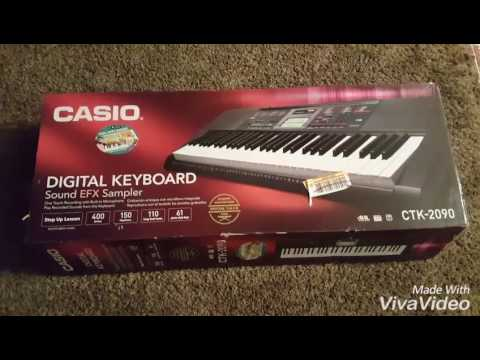 unboxing keyboard casio ctk 2090 affordable youtube. Black Bedroom Furniture Sets. Home Design Ideas
