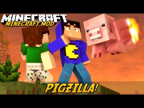 Minecraft Mod: PIGZILLA?! (Meteoro De Porcos // Pigzilla Mod)